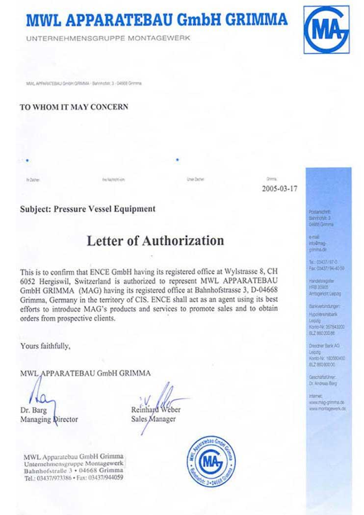 MWL Apparatebau GmbH GRIMMA